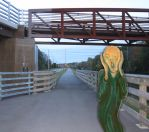 The Scream visits the Erie Canal by Azadeth