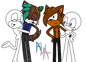 Turbo and Alex double date with a collab by SonicUS1000