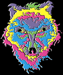 psychedelic trippy wolf by otritotrit