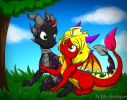 Klio and Strey by Klio-the-Dragon