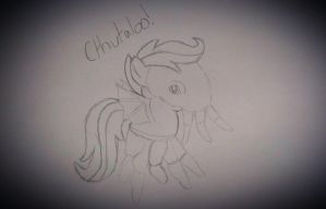 SKETCH: Scootaloo's Nightmare Night Costume by HatBulbProductions