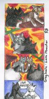 GrayScale- Lava Monster by CaptainMorwen