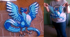 Articuno perler by SabretoothCreations