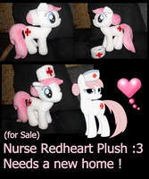 My Little Pony Nurse Redheart Plush for Sale ^^ by CKittyKat98