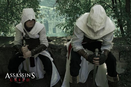 Assassins Creed - Two Assassins in Jerusalem by KejaBlank