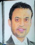 Portrait attempt of Irrfan khan by TheComicArtist