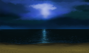 Night Beach by alexmakovsky