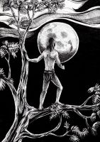 Tarzan and the Moon by AngelFromHungary