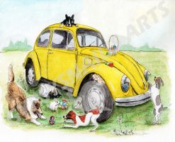 Dogs Adventure with Taxi Bug - Easter by gypsysnail
