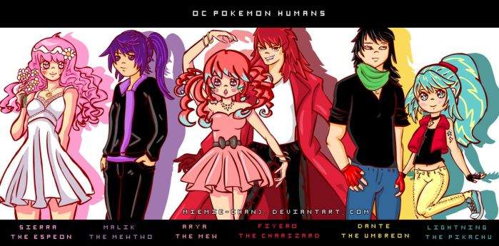 Pokemon original characters by miemie-chan3
