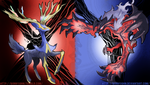 Xerneas and Yveltal w/ Speed Painting by BonnyJohn