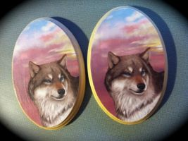 Wolf Plaques for sale by NatsumeWolf