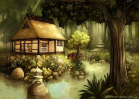House in a forest by Grimhel