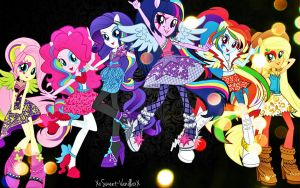 Equestria Girls Rock Wallpaper by XxStrawberry-RosexX