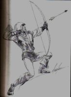 MIKE GRELL GREEN ARROW by kevinssketches