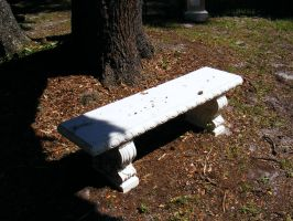 White Bench by elf-fu-stock