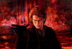 the dark Anakin o:n Mustafar by LilDevilAriel