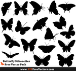 Free Butterfly Silhouette Vector Pack by 123freevectors