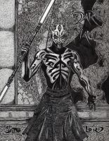 Darth Maul Pen and Ink by ZukosSoul