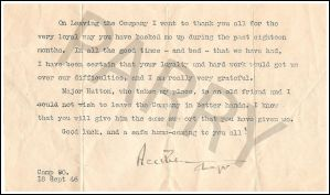 Letter Of Thanks WW2 by parry