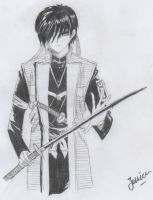 Some guy from Rurouni Kenshin by slashcutart