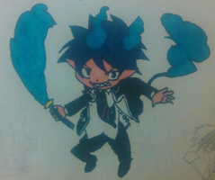Chibi Rin Okumura fully colored by ChibiShadowPanda