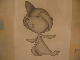Ralts Drawing by sazmullium