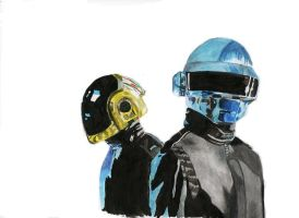 daft punk_only painted by marina-the-hedgehog