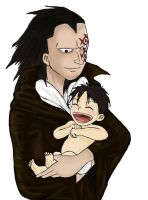 Father and Son, Dragon and Luffy by KayKras