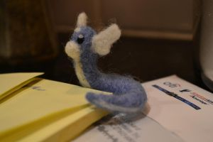 Needle Felted Dratini 2 by feltieflaffy