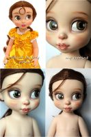 Disney Animators Collection Belle repaint by kamarza