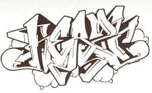"Graffiti sketch ""no colour"" by Heazy"