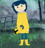 Raincoat Coraline With Doll by terrya7