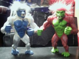 Primal RAGE Blizzard and Chaos Figure by conkeronine