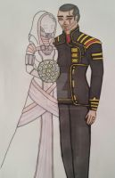 Tali and Shepard's wedding photo. by DeepSixer