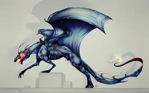 modern dragon  by wyum