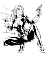 Black Widow inks by shoveke