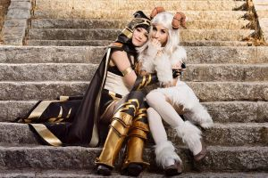 Ashe and Poro by NunnallyLol