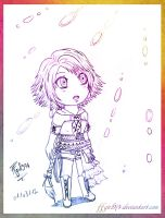Chibi Yuna - sketch by FFgirl974