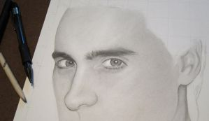 Jared Leto WIP (Detail) by RayPelesko