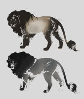 Fabulous Lions - Character Auction (sold) by NadiavanderDonk
