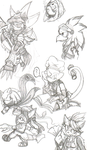 Sonic Wonderlanders sketches by Achird
