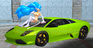 Felicia and her Lamborghini by NekoHybrid