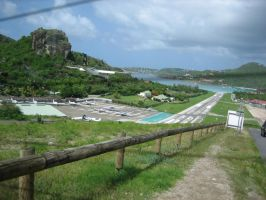 St. Barts Airport by Rikkanna