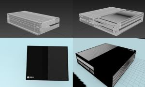 Xbox One modeled by me For Unreal Engine by MiDniTeKing