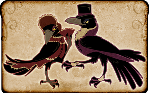 Victorian Crow Couple by black-brd