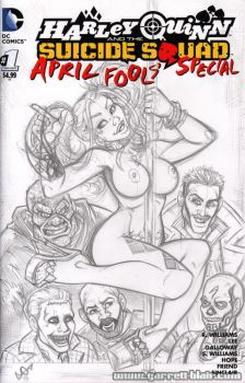 Strippin' Harley and the Suicide Squad pencils by gb2k