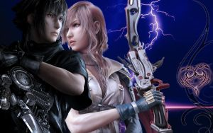 lightning and noctis by EeKeRs05