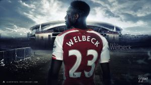 Danny Welbeck Wallpaper (Arsenal FC) by AlbertGFX