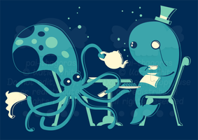 Mr Octopus's Tea Party by pai-thagoras